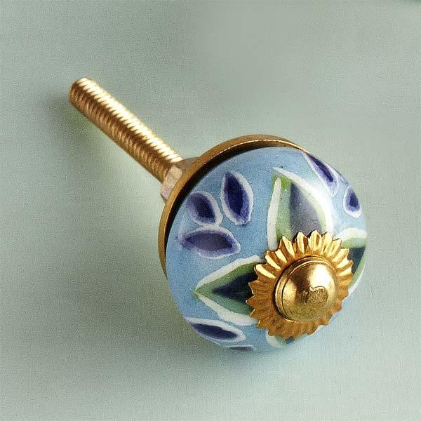 Breezy Floral Ceramic Cabinet Knob