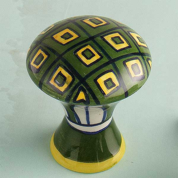 Geometric Design Ceramic Cabinet Knob