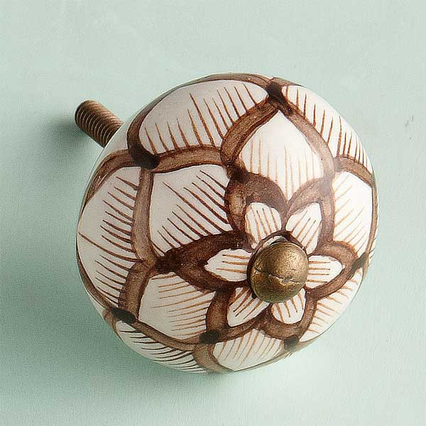 GBold Bloom Ceramic Cabinet Knob
