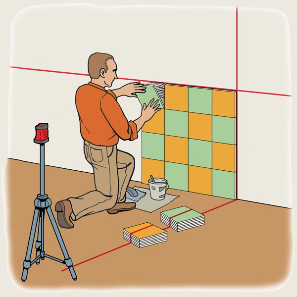 Level Technique to Tile a wall for TOH Tool Test