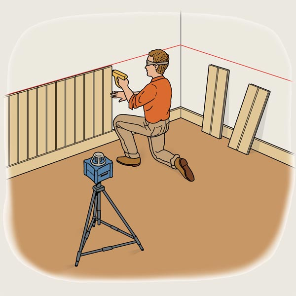 Level Technique to Install wainscot for TOH Tool Test