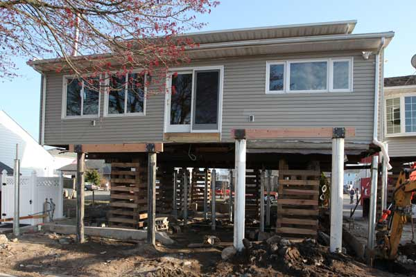 TOH TV Jersey Shore Rebuilds Santos house with temporary cribbing