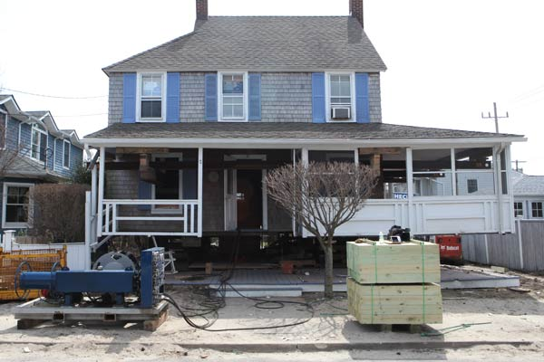 TOH TV Jersey Shore Rebuilds laird house lifted up off ground