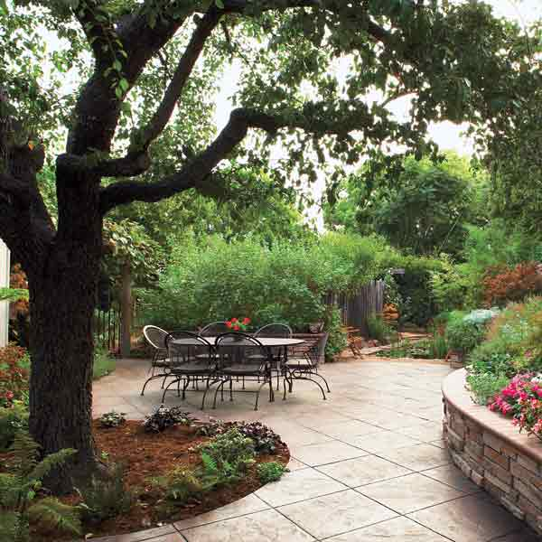 clean patio for backyard party