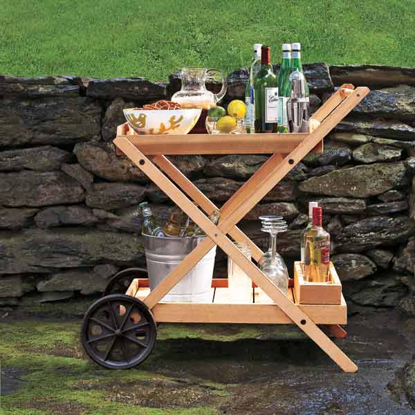 outdoor bar cart step by step for backyard party