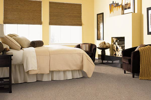 bedroom with triexta carpet from mohawk flooring, all about wall to wall carpeting