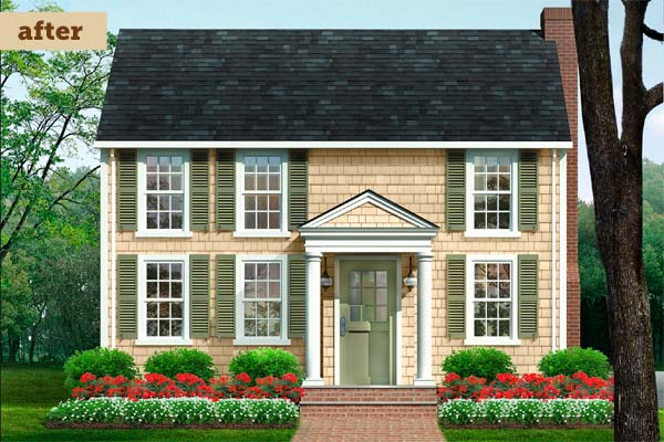 after Fixing an Awkward Facade this old house photoshop redo