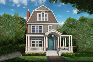after illustration of a Photoshop redo of a Queen Anne–style home
