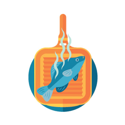 illustration of stinky fish, getting rid of household odors safely