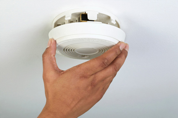 changing the battery in a smoke or carbon monoxide alarm, march fast fix upgrades