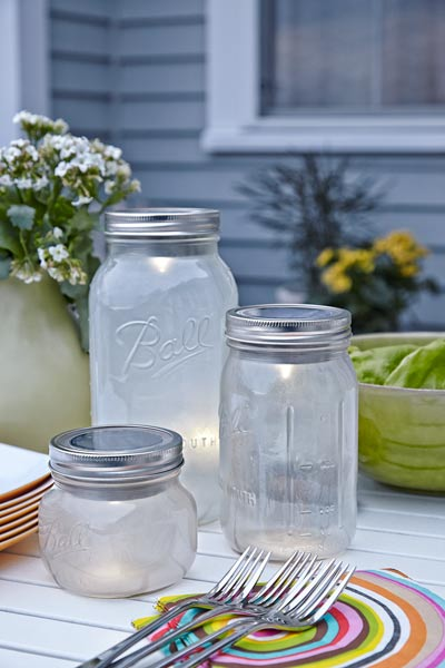 solar patio lights made of mason jars, easy upgrades around the home for the whole year