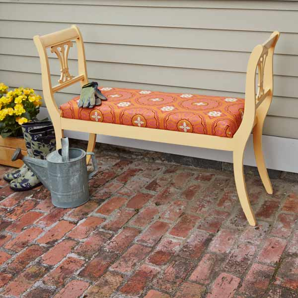 outdoor bench made from two old dining chairs, easy upgrades around the home for the whole year