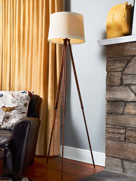 tripod style floor lamp, easy upgrades around the home for the whole year