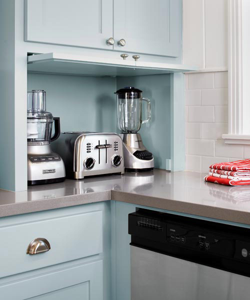 Smart appliance garage color of the month february 2014 for Appliance garage kitchen cabinets