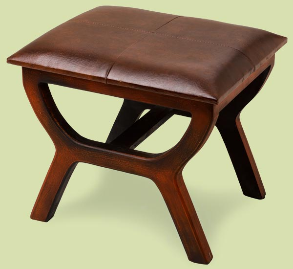 a leather-topped stool