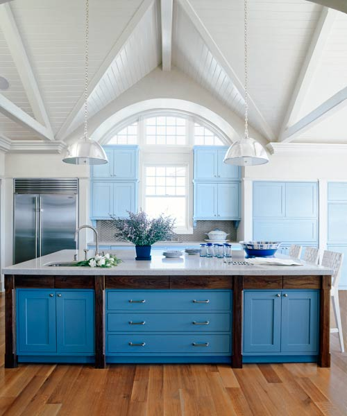 Shades Of Blue Kitchen Cabinets