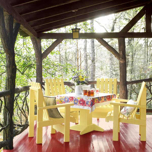 Colorful Rooms With A View: Color Charms A Georgia Cabin's