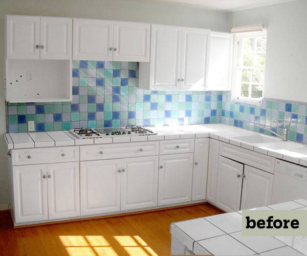 kitchen remodel before, retro style kitchen with soft green cabinets and salvage apron sink