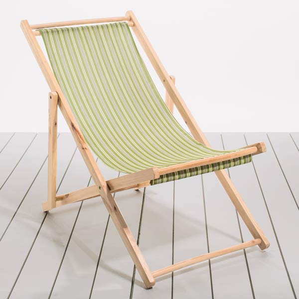 Spring Greens Folding Deck Chairs