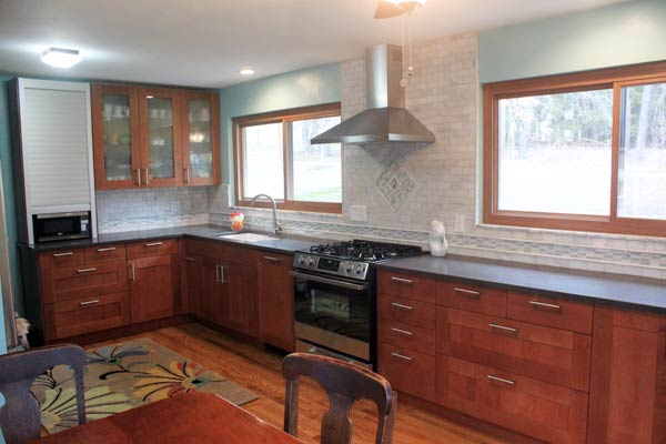 an intricate backsplash is a perfect accent to expanded