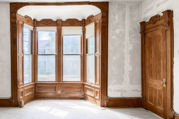 Open Walls Intact Walnut Woodwork Save This Old House