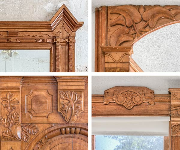 millwork details in a Folk Victorian for sale in Brunswick, Missouri