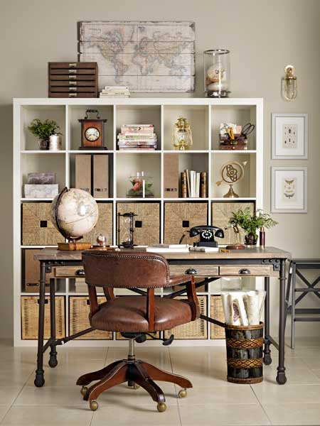 Neat And Nautical Create A Well Traveled Home Office