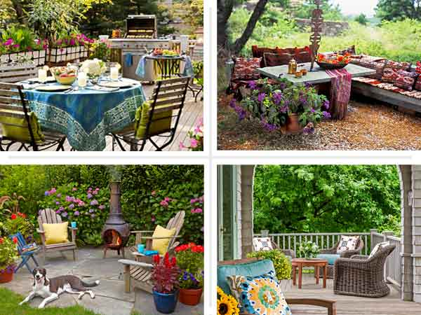 composite of porch, patio, and deck staycation escape upgrades