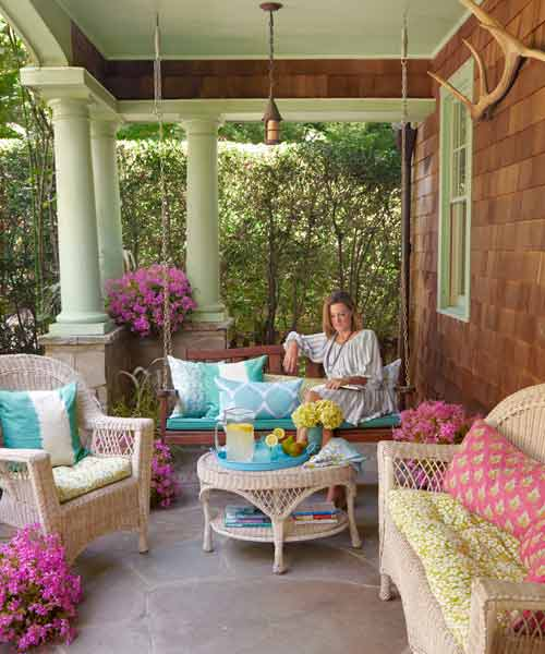 Add a Porch Swing for easy staycation escape upgrades