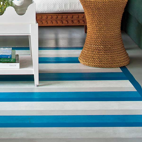 Paint a Permanent Rug for easy staycation escape upgrades