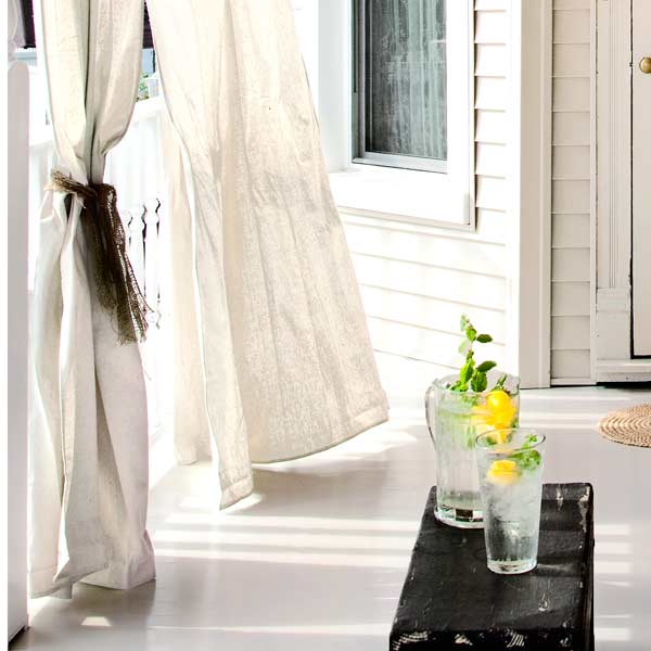 Hang Drapes for easy staycation escape upgrades