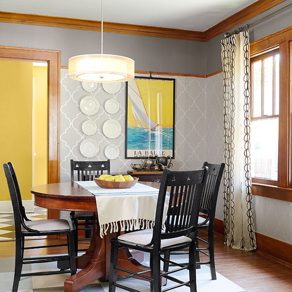 Patterned Dining Room Walls