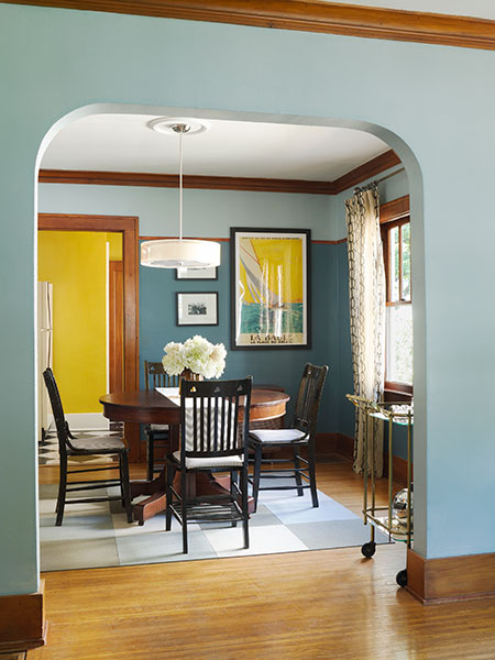 Dining Room: The First Try Paint