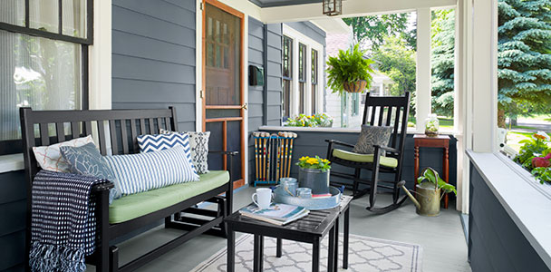 Craftsman house porch remodel