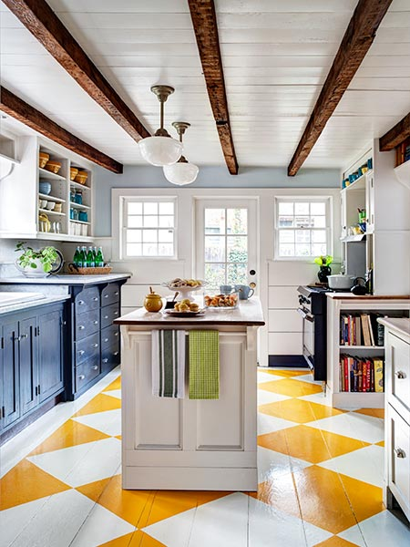 Ceilings with historical charm 5 ideas for faux wood for Decorative beams in kitchen