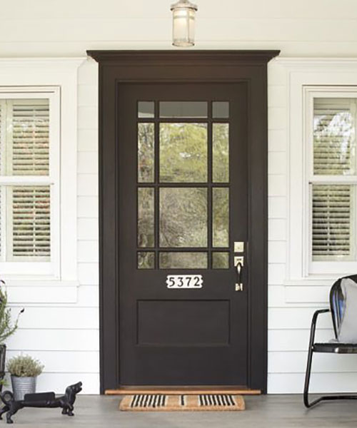 Front door paint colors paint ideas for front doors house home design idea - Exterior black paint ideas ...