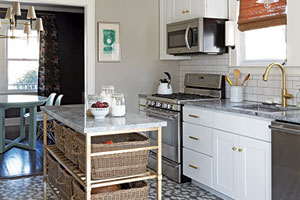 apartment kitchen from the book, Apartment Therapy Complete + Happy Home