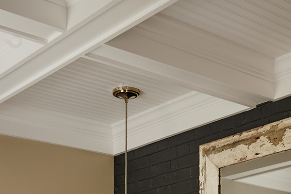 Stacked Crown Molding For A Coffered Ceiling Surprise