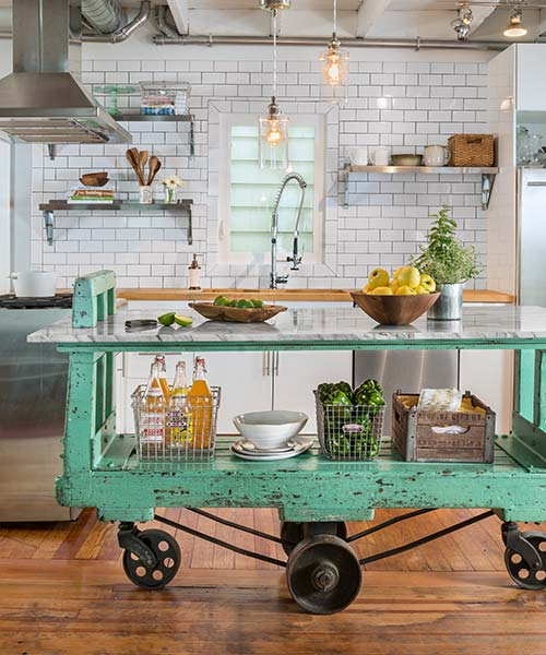 Factory Cart To Kitchen Island: After
