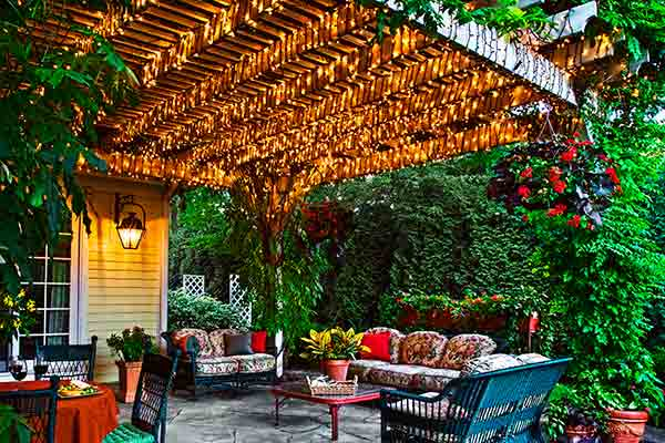 Highlight A Pergola With String Lights 4 Outdoor