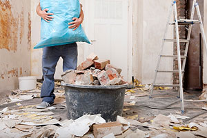 getting rid of mixed debris during a renovation