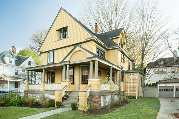 the Belmont Victorian house project front exterior