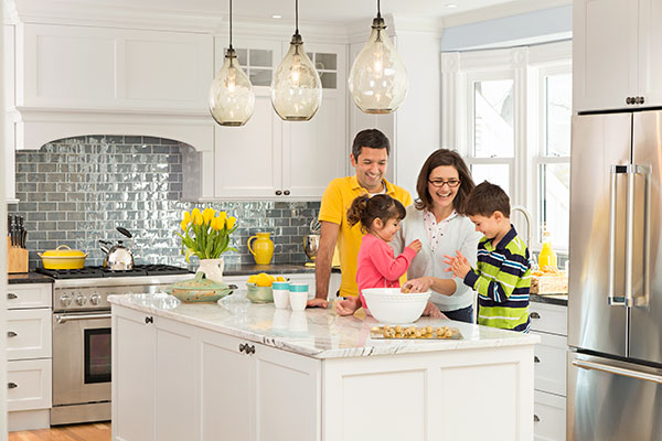Bright And Hardworking Family Kitchen