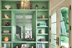large built-in bookcase