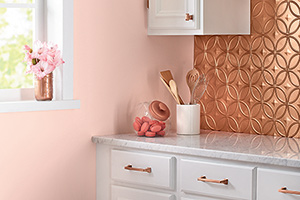 kitchen wall with Devine Color's Devine Pirouette paint