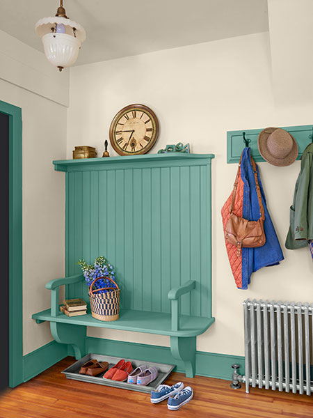 Foyer Area Zone : Place to perch shelf style bench stylish ideas for