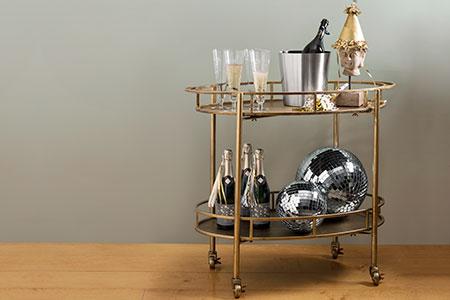bar cart made by Creative Co-op