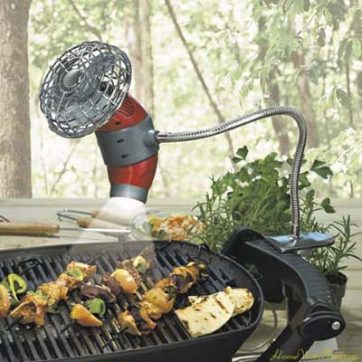 Barbecue Grill Fan/Light