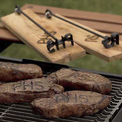 Monogrammed Steak Brand
