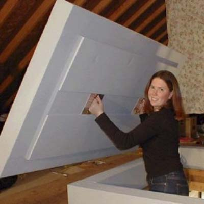 insulated panel for attic stairs
